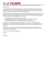 Seeking Guest Best Guest Service Representative Cover Letter Exles Livecareer
