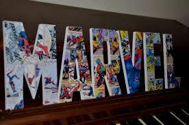 chambre marvel marvel letters marvel custom made name