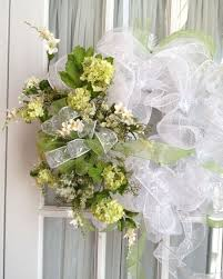 white deco mesh wedding mesh wreath deco mesh wedding wreath moss green white by