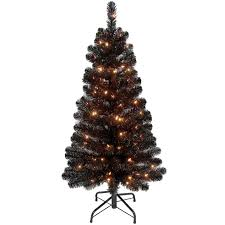 f13 4 ft pre lit black christmas tree at home at home