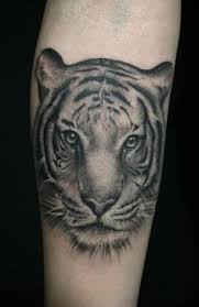 beautiful tiger thigh tattoo by dashatattooing tigertattoo