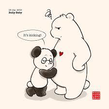 belly baby u2013 panda and polar bear