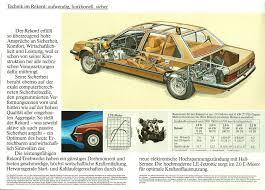 1982 opel rekord brochure