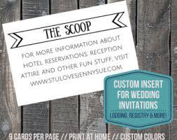 Wedding Invitations Inserts Invitation Insert Etsy