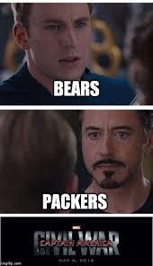 Bears Packers Meme - marvel civil war 1 latest memes imgflip
