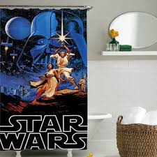 Shower Curtain 36 X 72 Retro Star Wars Shower Curtain Shower From Sarbotexas On Etsy