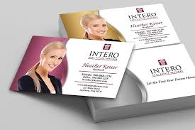 intero real estate services business cards printifycards