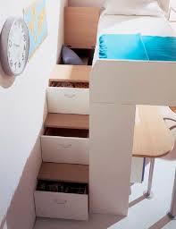 lit surélevé avec bureau lit mezzanine contemporain avec bureau pour enfant unisexe