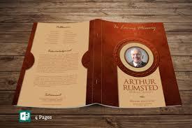 modern funeral programs michael godserv print template portfolio leather