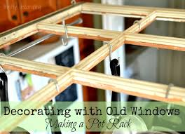 kitchen pot rack ideas diy window pot rack the 36th avenue