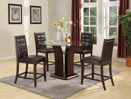 dining room sets in houston tx bar height brown leather wood dining room set four chairs