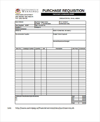 Purchase Request Form Template Excel Sle Requisition Forms