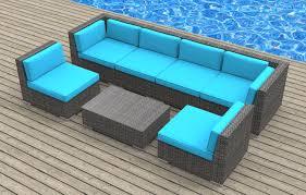 Modern Wicker Patio Furniture by Oahu 7pc Ultra Modern Wicker Patio Set Www Urbanfurnishing Net