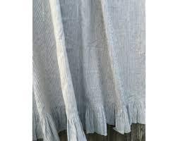 Black Ruffle Shower Curtain Chambray Grey Linen Shower Curtain Mildew Free 72x72