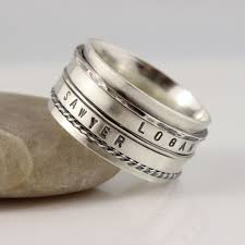 mens spinner rings men s sterling silver spinner ring masculine s