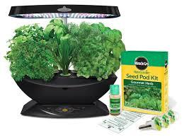 miracle gro aerogarden 7 pod led indoor garden with gourmet herb