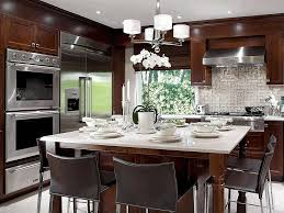 Glass Upper Cabinets Kitchen Ideas With Dark Cabinets Natural Stone L Shaped Outdoor