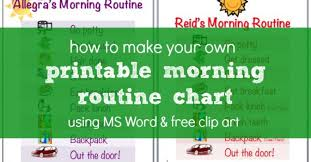 how to make a morning routine chart using ms word u0026 free clip art