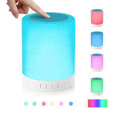 simptech table lamp touch sensor bedside lamps with bluetooth