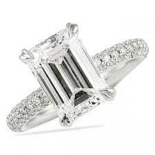 emerald cut engagement rings lepozzi 3 00 ct emerald cut engagement ring