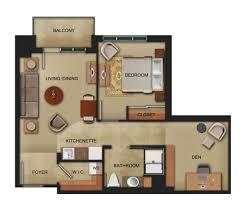 Den Ideas Bedroom Cool One Bedroom And A Den Design Ideas Modern Luxury In