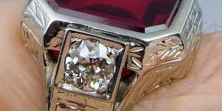 mens rings antique images Vintage mens diamond ring estate wedding promise diamond jpg