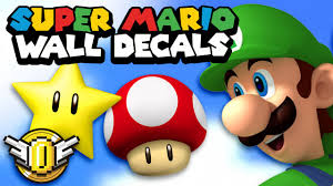 nintendo super mario wall decals super coin crew youtube nintendo super mario wall decals super coin crew