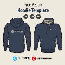 free hoodie vector template pixsector