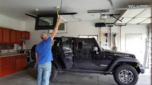 jeep hardtop custom concealed jeep hardtop lift with electric hoist youtube