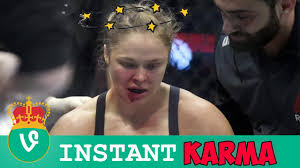 Funny Fight Memes - ronda rousey instant karma vine compilation funny ronda rousey