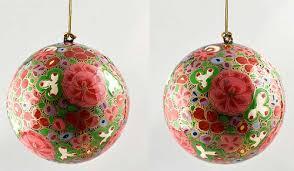 papier mache painted tree balls gulam hussan