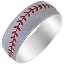 baseball wedding ring lashbrook mens baseball wedding band in cobalt chrome 8mm