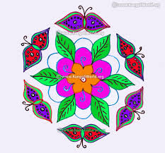 butterfly and flowers kolam design jan 2017 15 to 8 interlaced dots