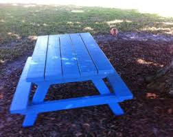 Kids Wooden Picnic Table Kids Picnic Table Etsy