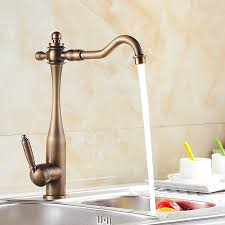 Kitchen Faucets Wholesale Inspired Kitchen Faucet Antique Brass Finish At Faucetsdeal