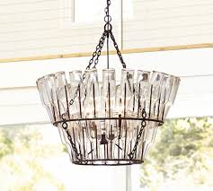 How To Make A Chandelier Out Of Beer Bottles French Bottle Chandelier Pottery Barn