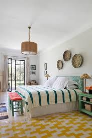 Bright Bedroom Ideas Bright Bedroom With Yellow Statement Rug Bedroom Design Ideas