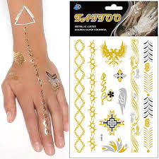 finger tattoo stickers new fashion 5pcs lot silver small bird waterproof gold eagle flash