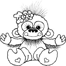 animations a 2 z coloring pages of monkeys