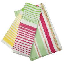 urban trendz woven stripes kitchen towels tea towels set 2