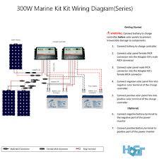 300 watt 12 volt monocrystalline solar marine kit hqst solar