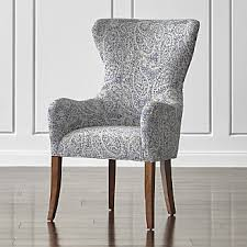 Wingback Dining Chairs Sale Shop Dining Chairs Kitchen Chairs Crate And Barrel