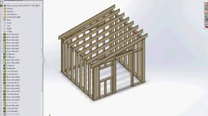 8 by 8ft shed structure created with a structural design