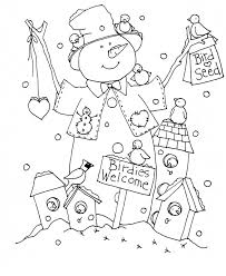 136 coloring pages winter images drawings