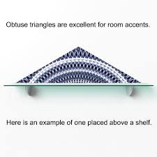 here we grow again geometric fabric wall sticker obtuse triangle