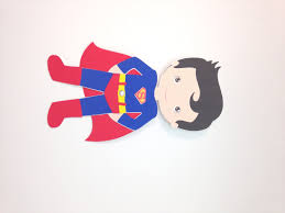 superboy superhero craft kit for kids birthday party favor