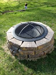 Firepit Screen Diy Pit With Spark Screen Pit Ideas Pinterest