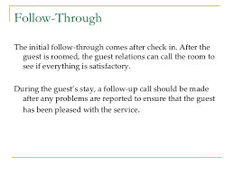 guest services in hospitality industry