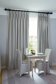 Different Curtain Styles Thick Dark Wooden Rod With Goblet Pleats U0026 Rings Brookline Dr