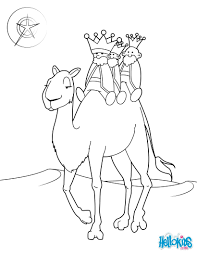 the three kings on a camel coloring pages hellokids com